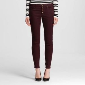 NWT Mossimo Mid-Rise Jegging Burgundy Jeans 8/29R